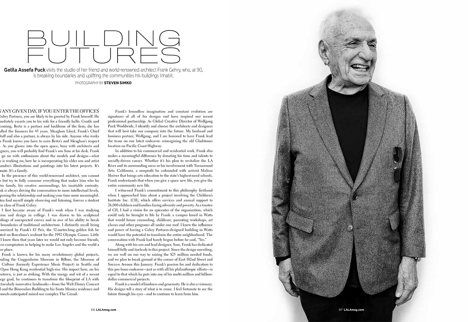 FRANK GEHRY - LALA MAGAZINE
