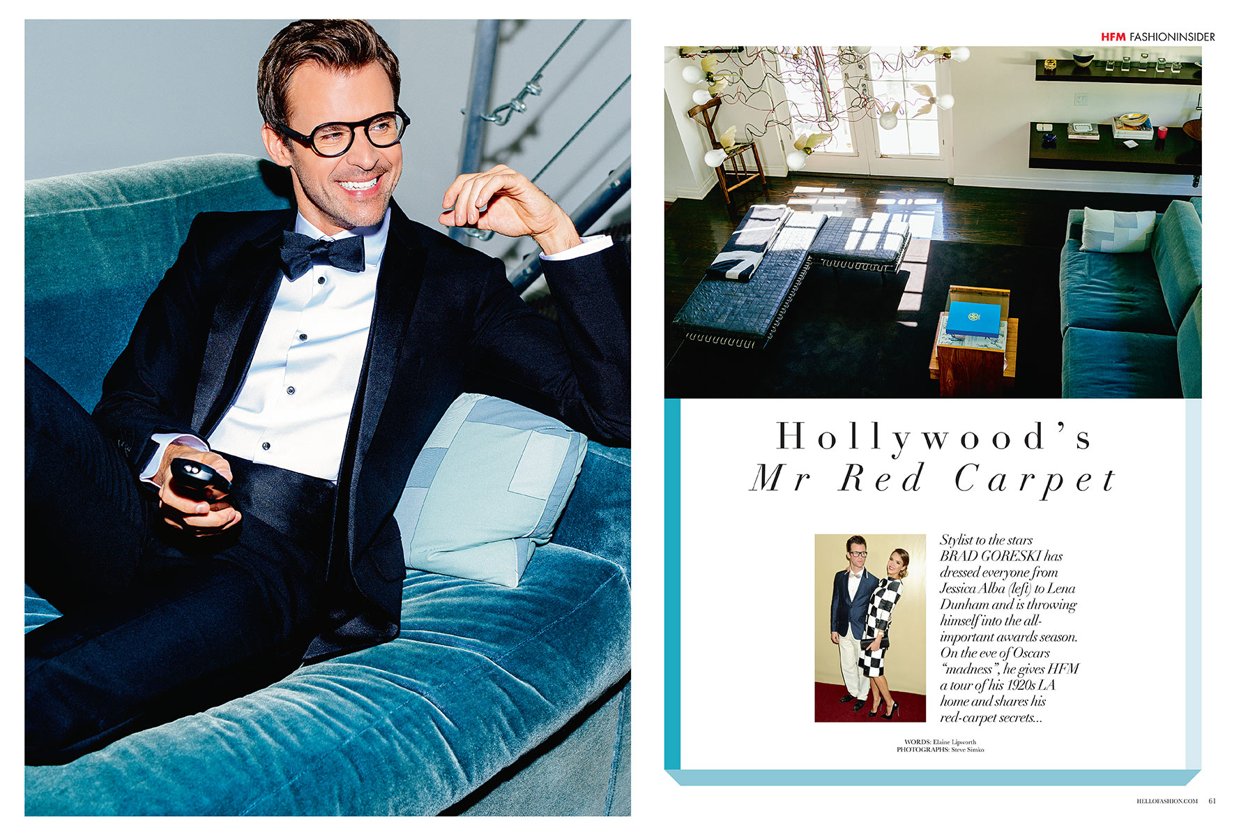 BRAD GORESKI - HELLO! FASHION MONTHLY