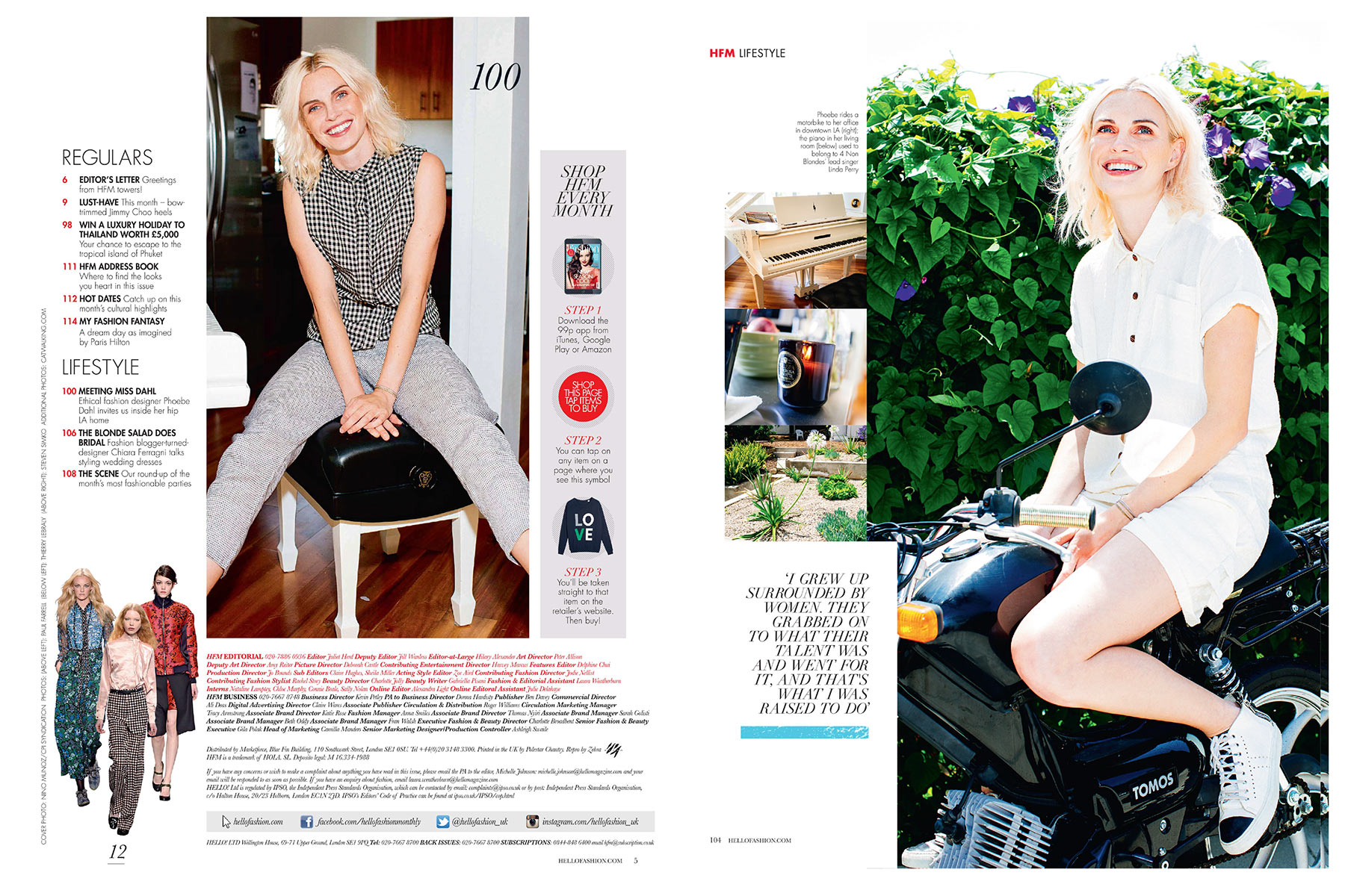 PHOEBE DAHL - HELLO FASHION MONTHLY